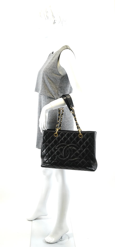Caviar Leather Grand Shopping Tote GST Bag