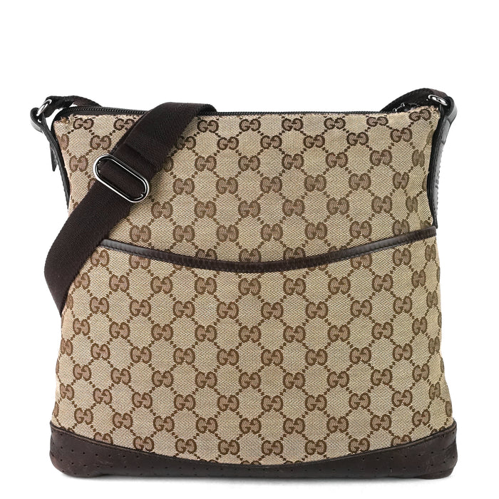 Monogram Canvas Perforated Messenger Bag