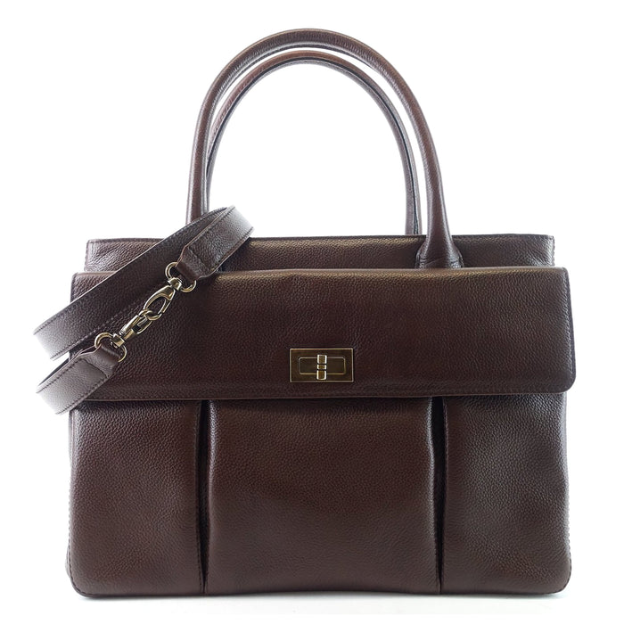 2.55 Two Way Caviar Leather Handbag