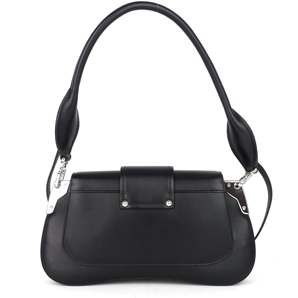 Sidonie Black Leather Shoulder Bag
