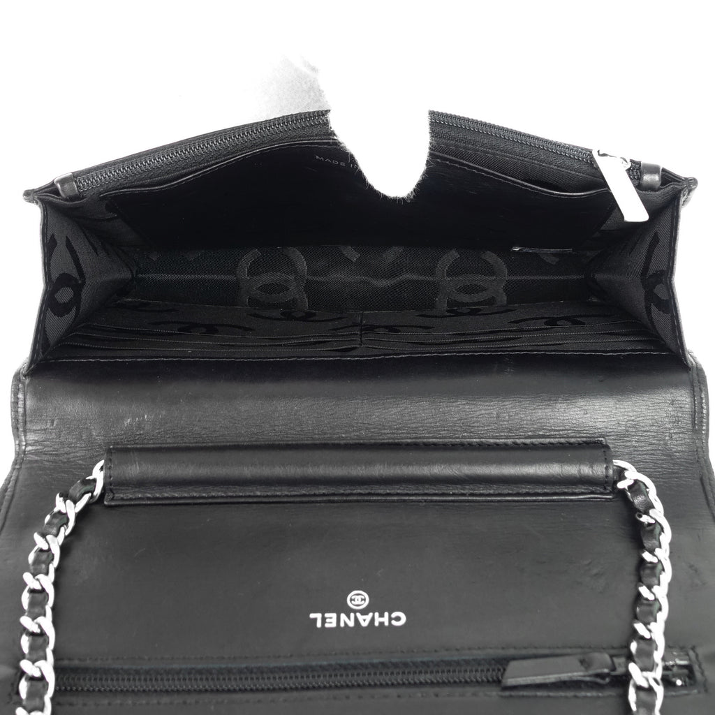 Cambon Ligne Wallet on Chain Lambskin Leather Bag
