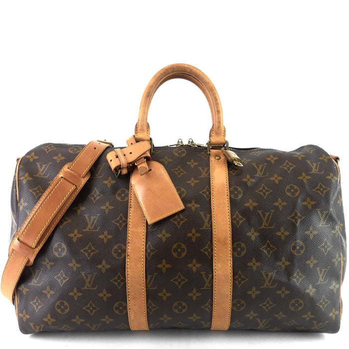 Keepall 45 Bandouliere Monogram Canvas Bag