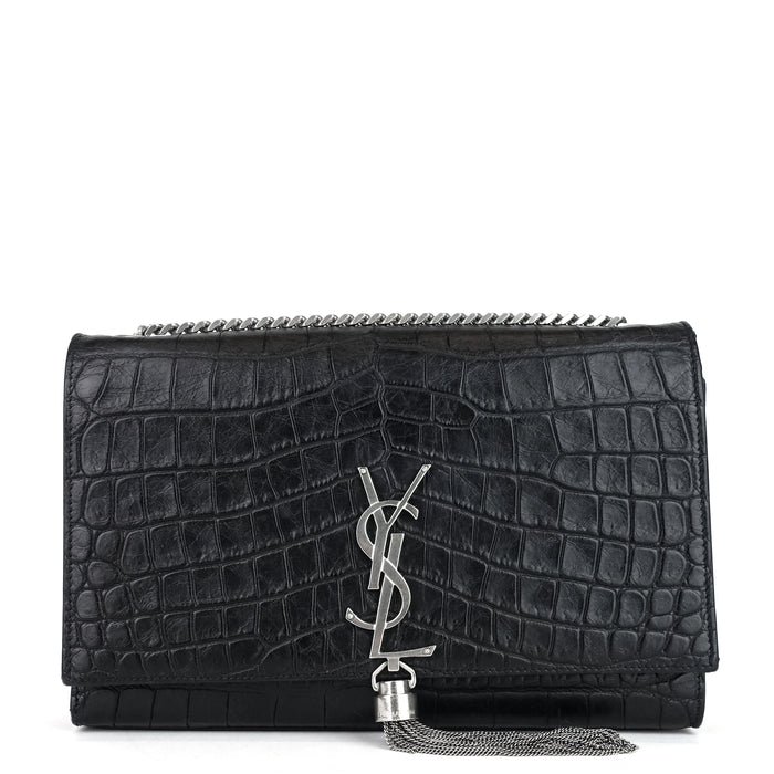 Kate Croc Medium Embossed Calf Leather Bag