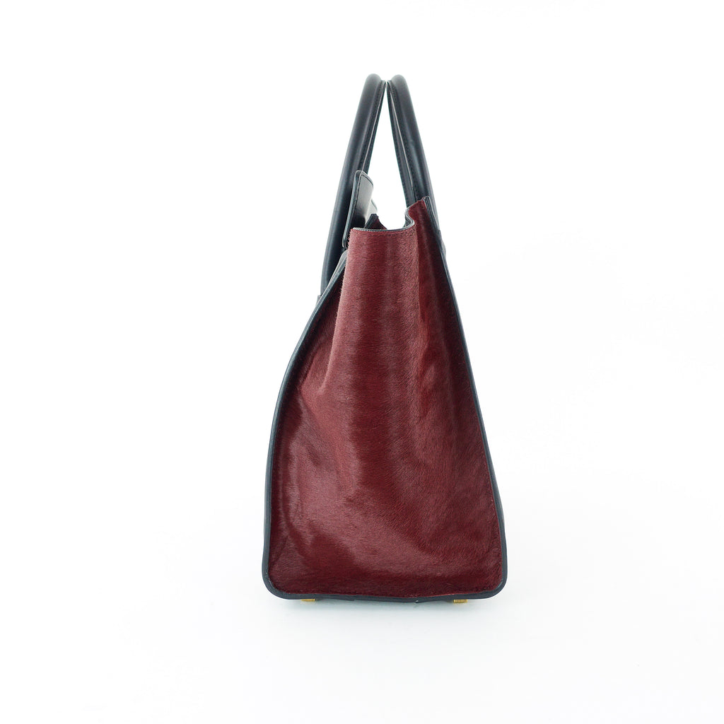 Luggage Leather and Pony Hair Mini Bag