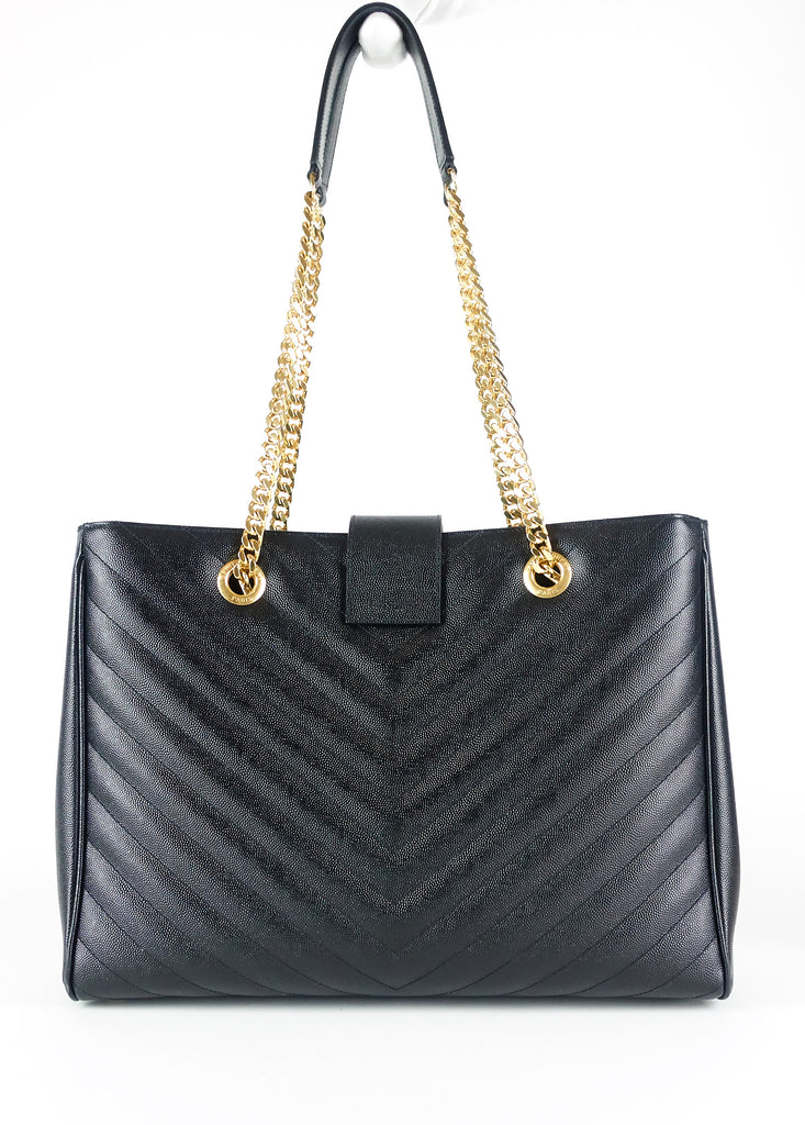 Matelasse Chevron Leather Shopper Bag