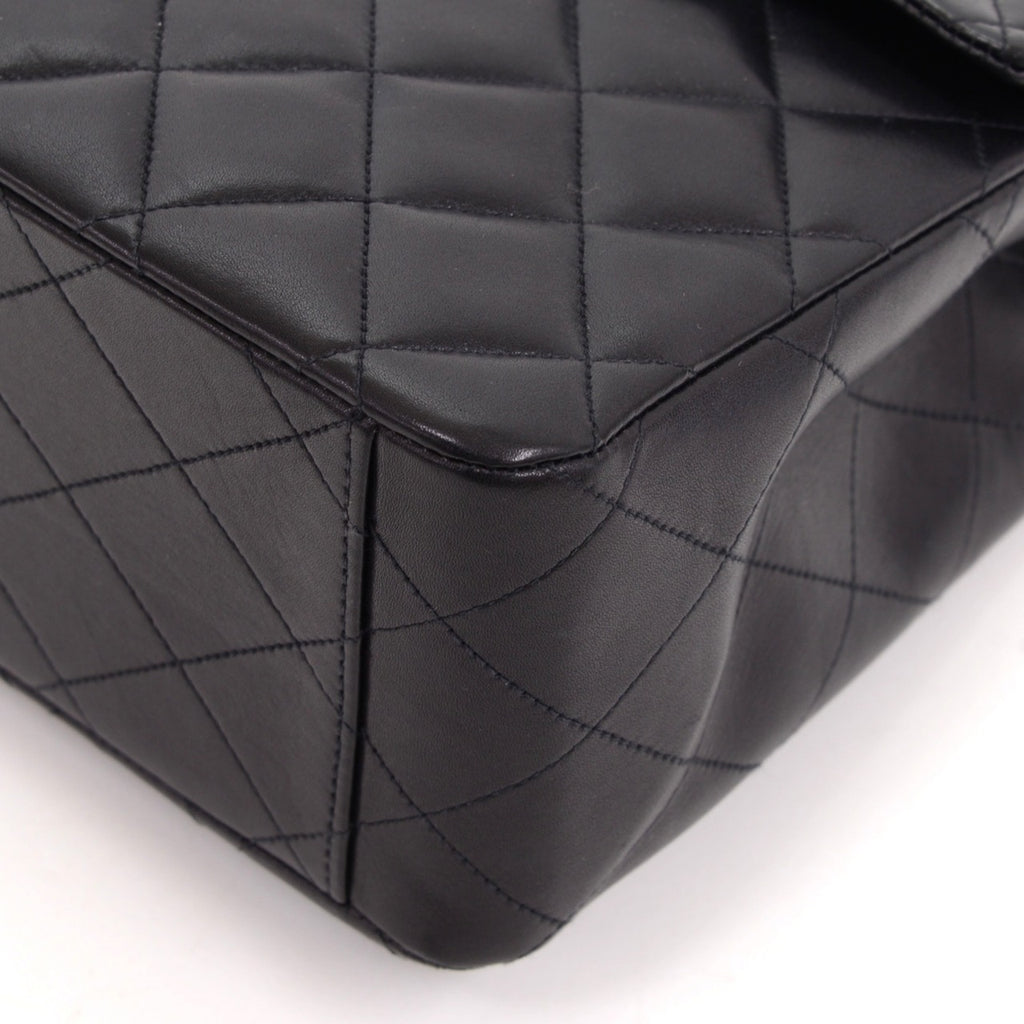 "13"" Maxi Quilted Lambskin Leather Shoulder Bag"
