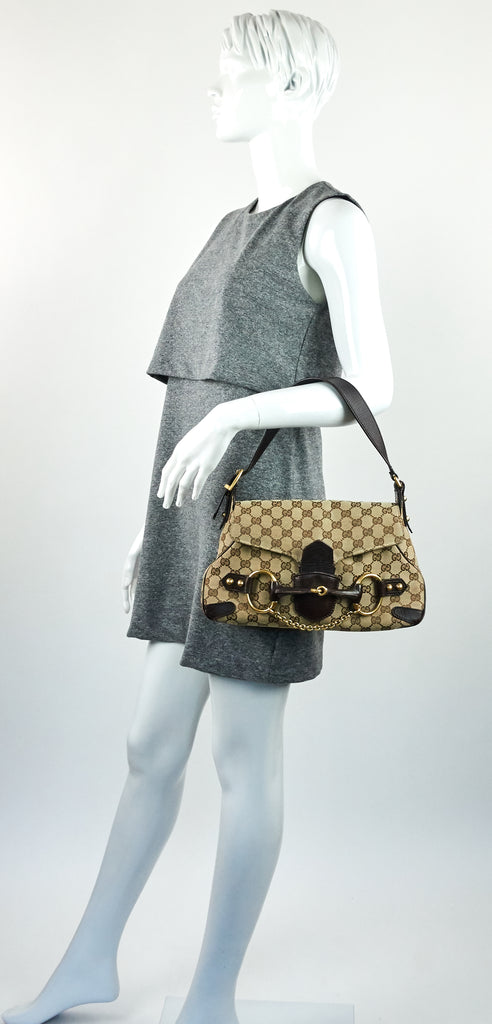Monogram Canvas Horsebit Handbag