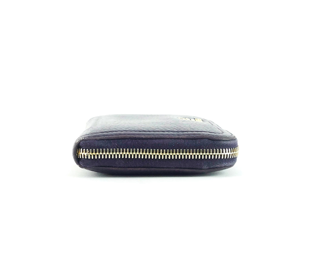 Zip Around Pebbled Leather Wallet