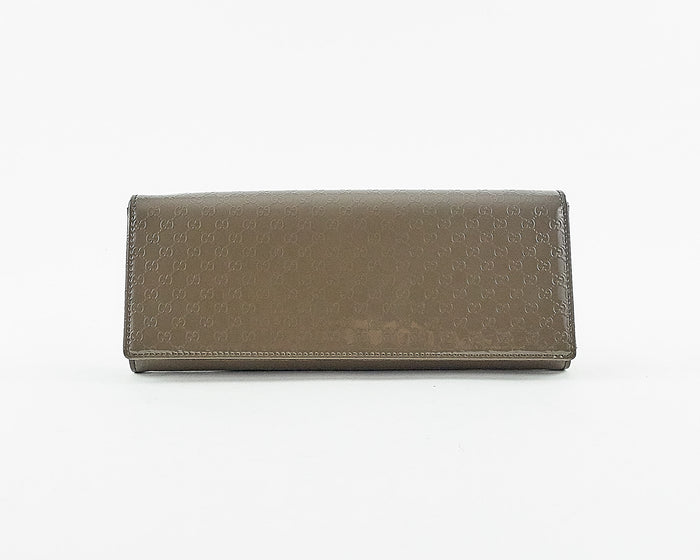 Broadway Microguccissima Leather Clutch Bag