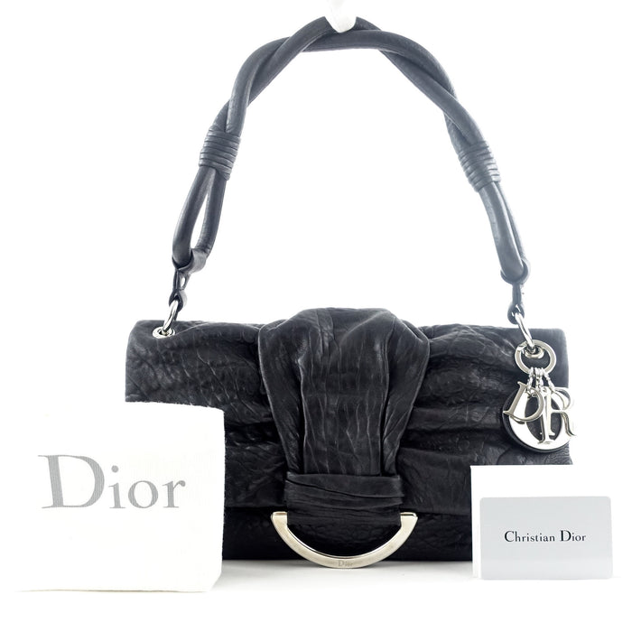 Demi Lune Crinkled Leather Bag