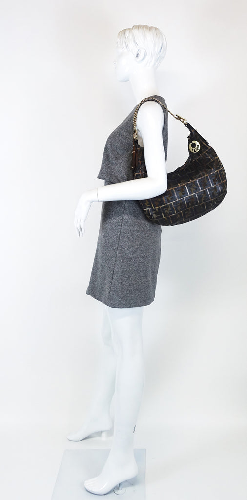 Monogram Canvas Chef Chain Hobo Bag