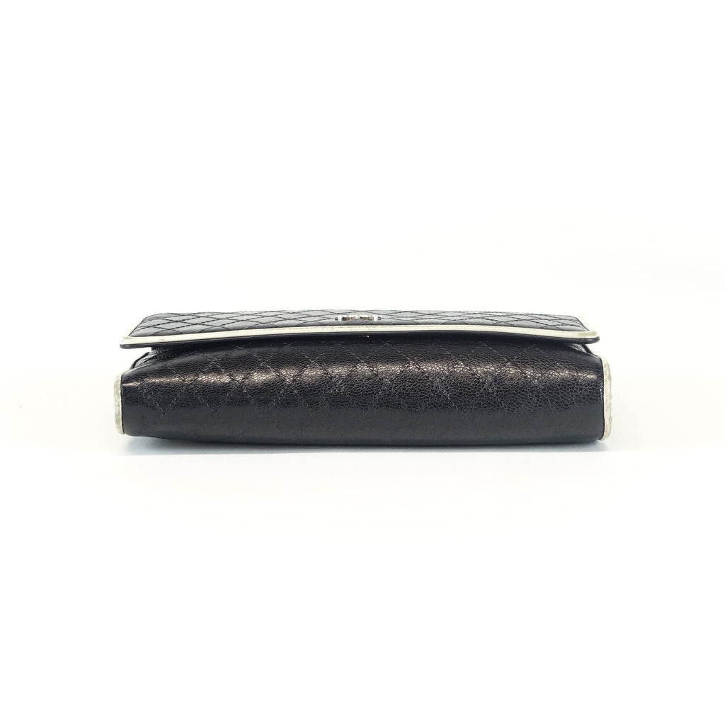 Quilted Caviar Leather Wallet