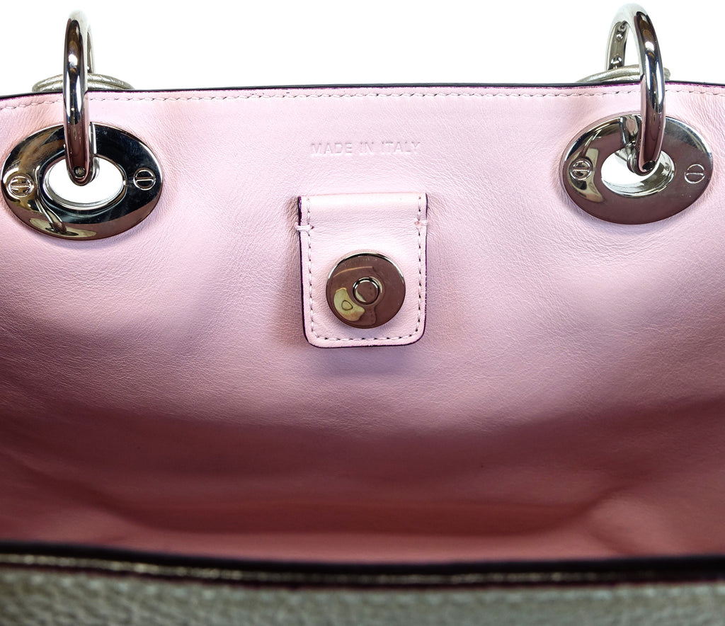 Pebbled Leather Medium Bag with Zip Pouch