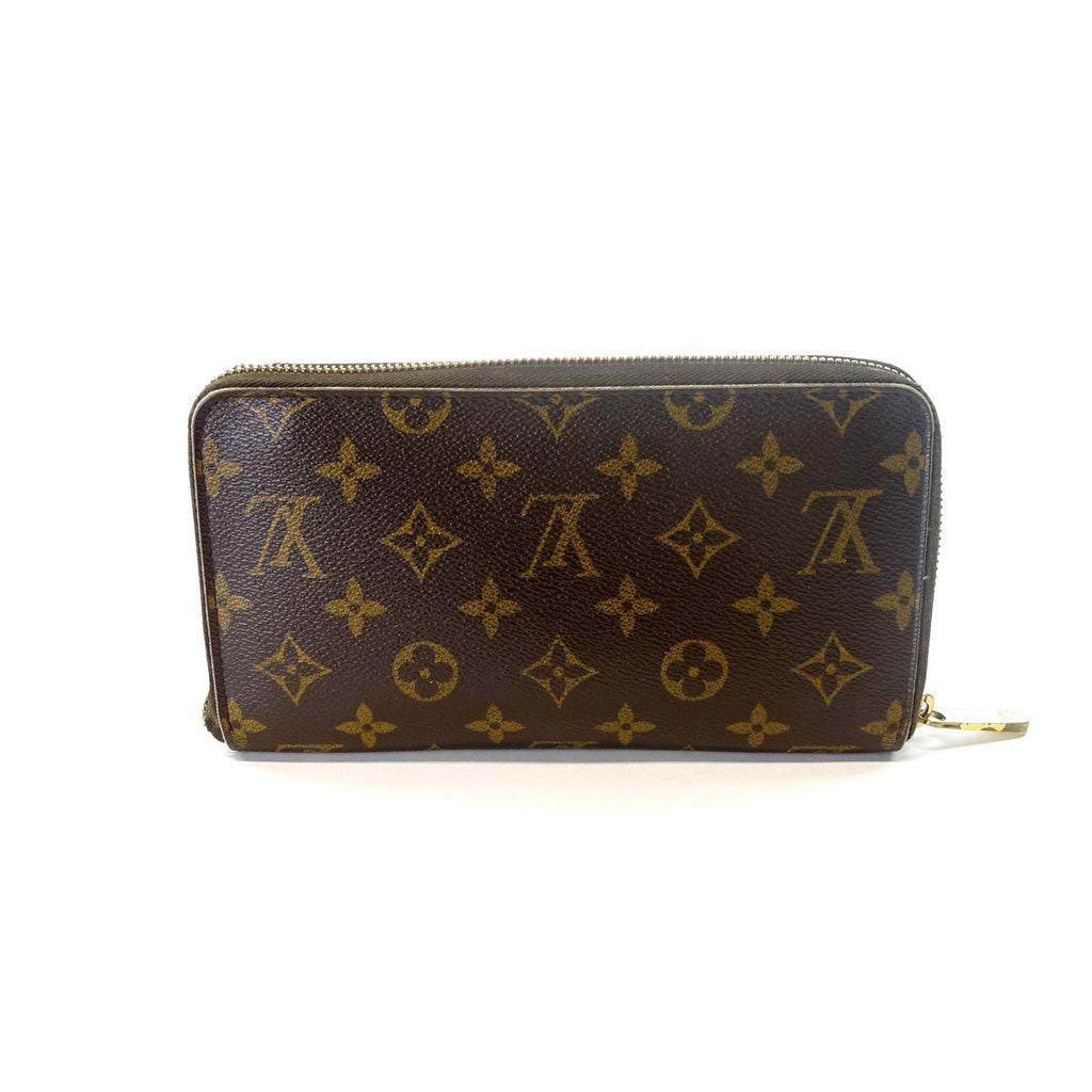Zippy Monogram Canvas Wallet