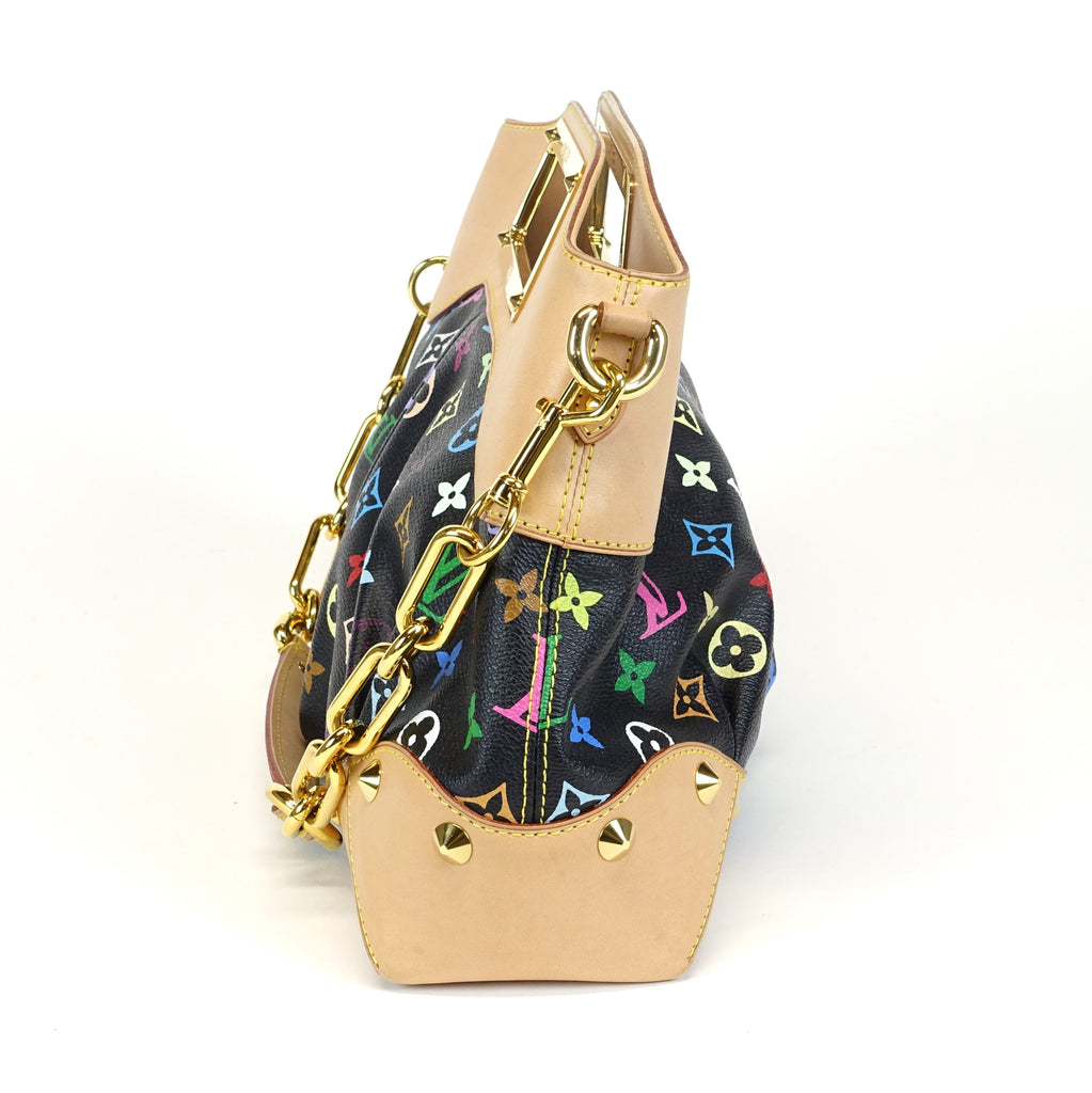 Judy MM Multicoloured Monogram Canvas Handbag