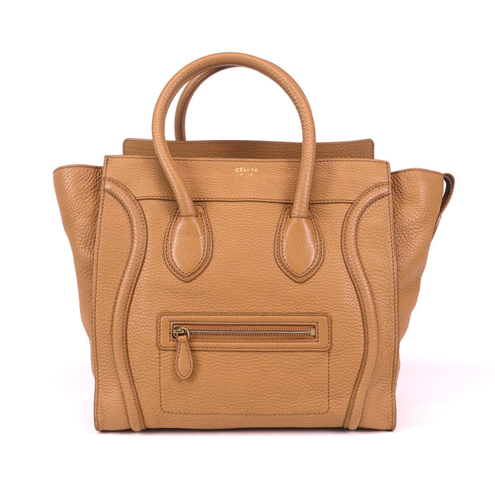 Pebbled Calfskin Leather Tote Bag
