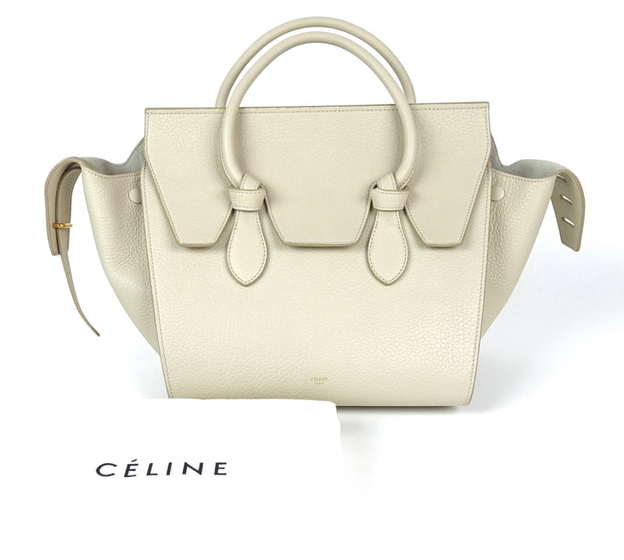 Calfskin Leather Knotted Handles Tote Bag