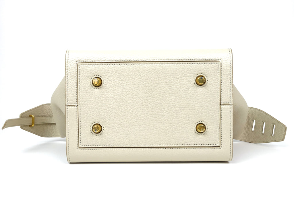 Calf Leather Knotted Handles Bag