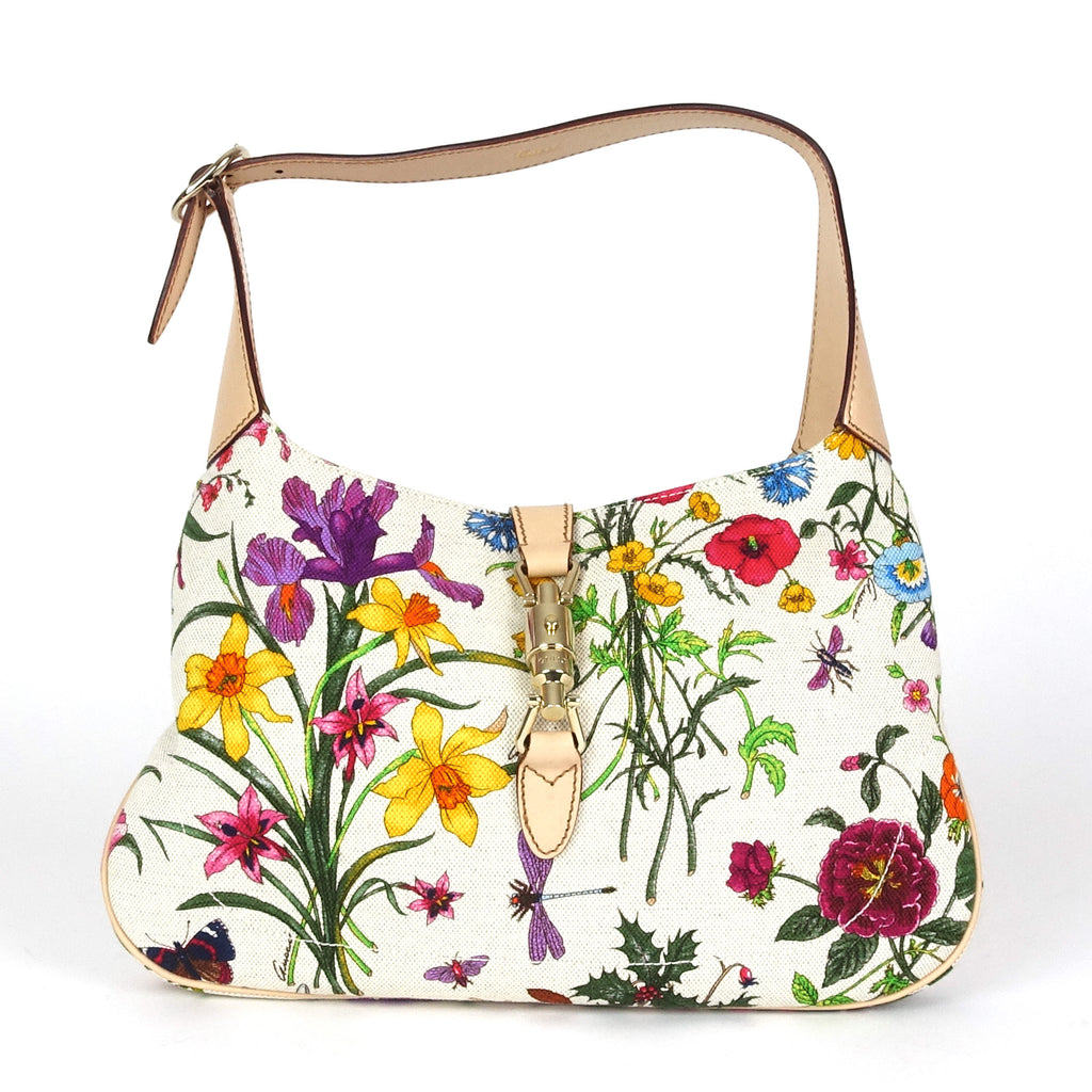 Canvas Botanical Jackie Shoulder Bag