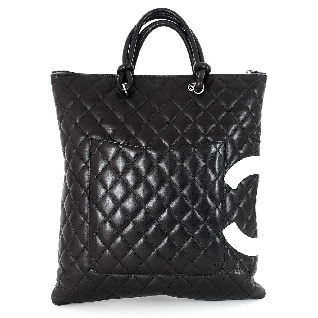 Lambskin Leather Cambon Ligne Flat Tote