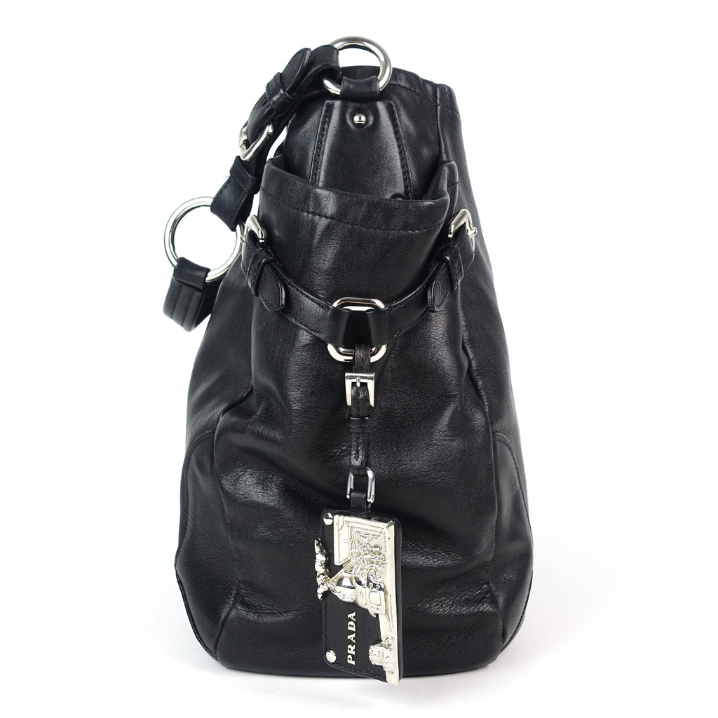 Vitello Daino Leather Hobo Bag