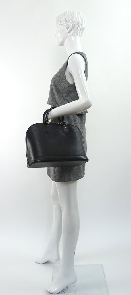 Alma MM Epi Leather Handbag