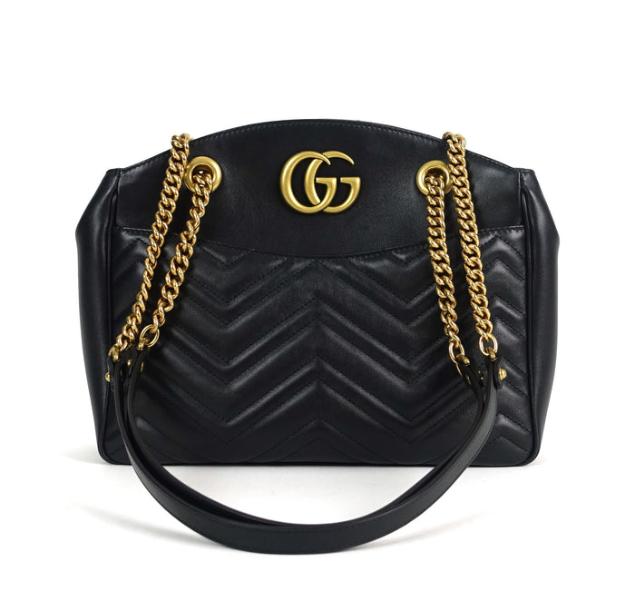 Marmont Matelasse Chevron Leather Tote Bag