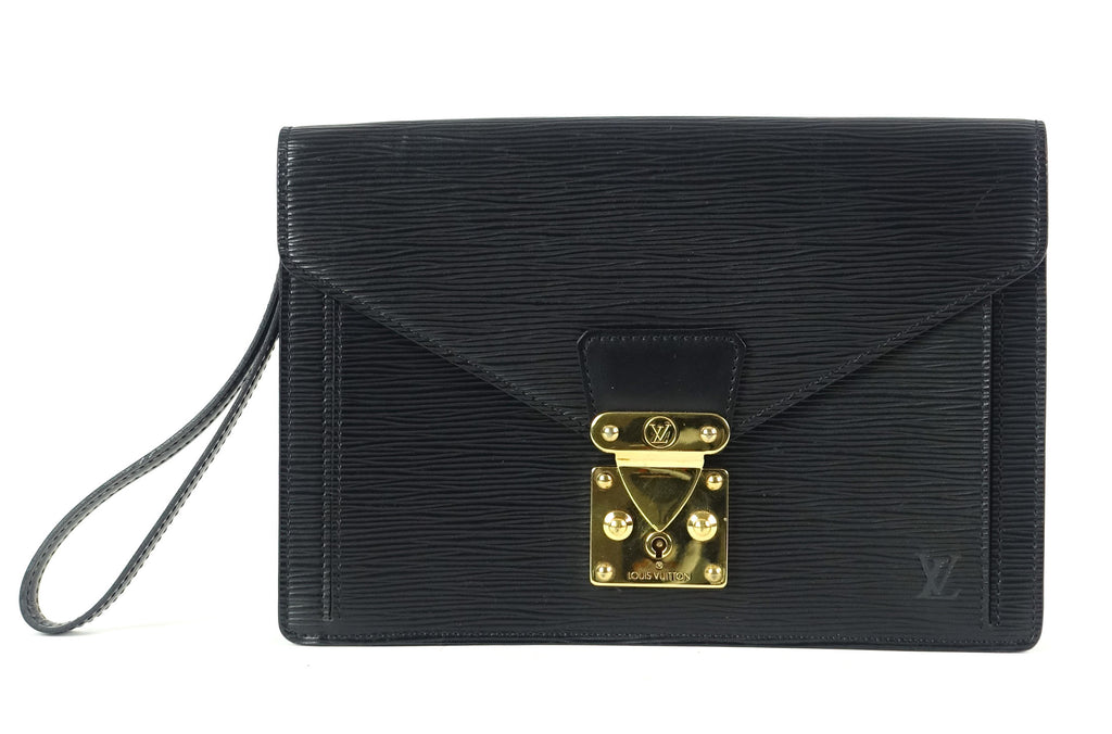 Sellier Dragonne Epi Leather Clutch Bag