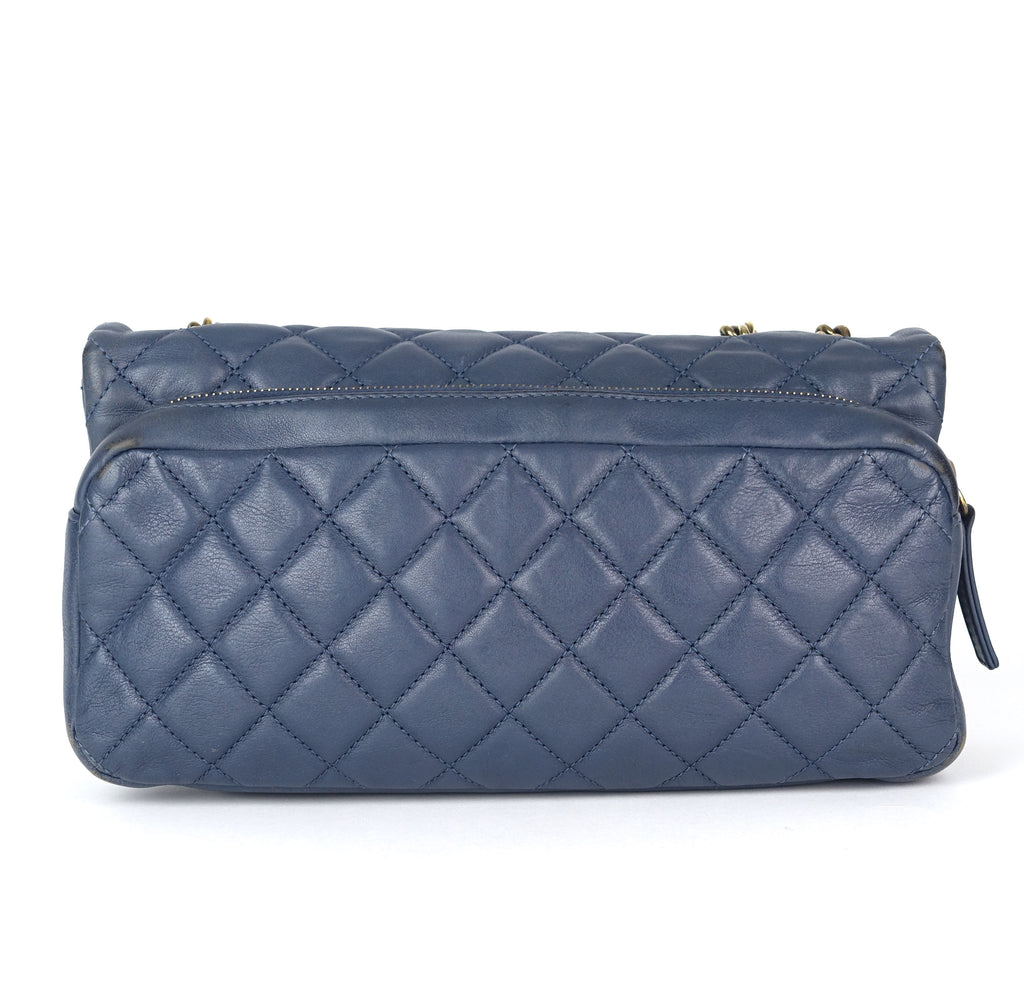 CC Crown Quilted Leather Shoulder Bag