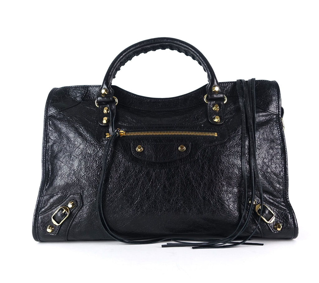 Classic Lambskin Leather City Bag