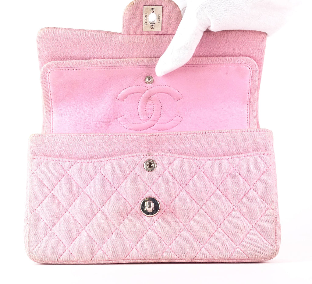 Double Flap Quilted Cotton Shoulder Bag