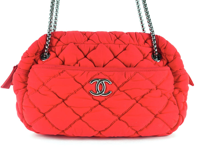 Quilted Bubble Nylon Shoulder Bag