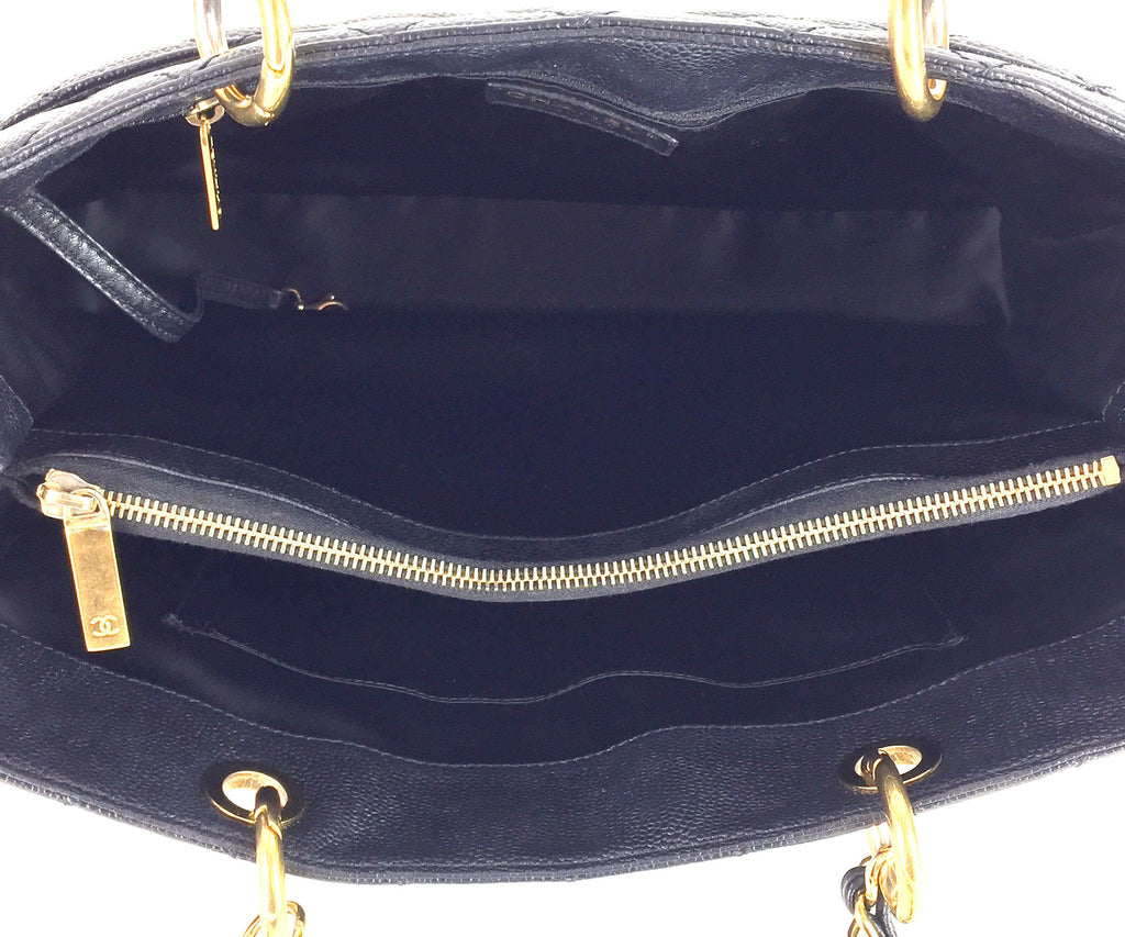 Caviar Leather Grand Shopping Tote