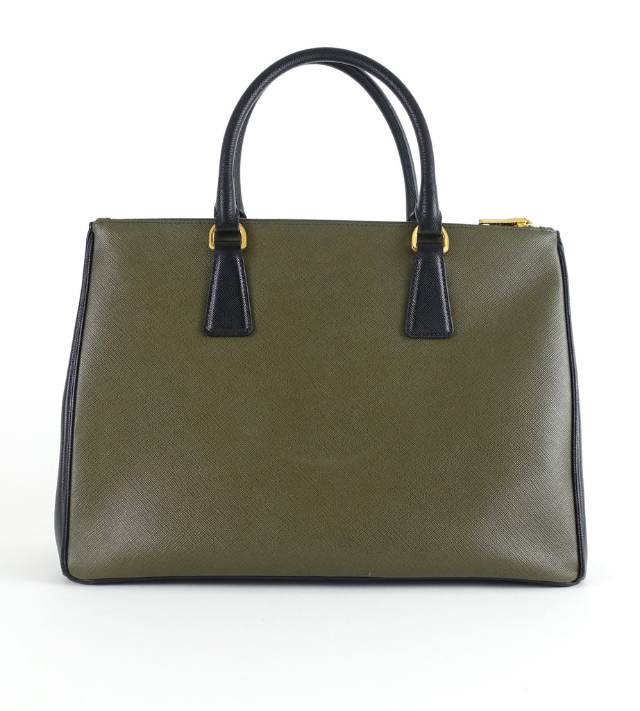 Saffiano Lux Double-Zip Tote Bag