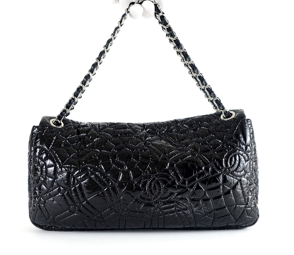 Graphic Edge Patent Vinyl Shoulder Bag
