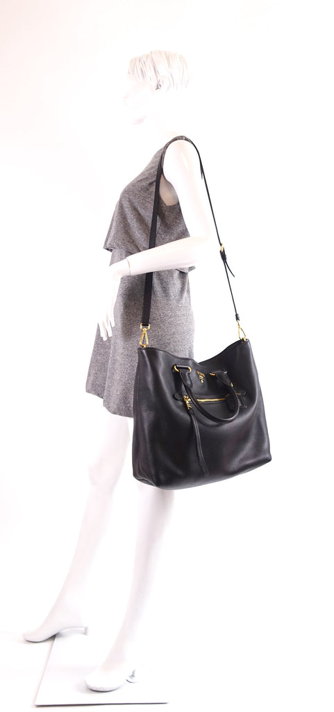 Vitello Daino Leather Tote Bag