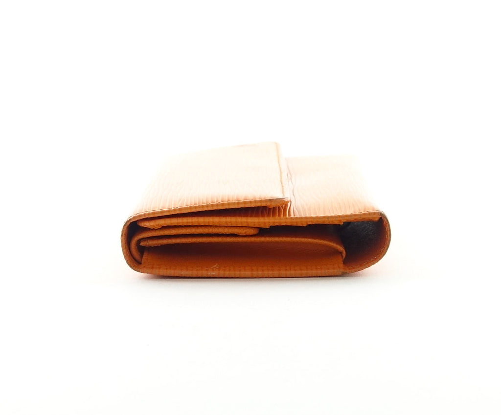 Orange Epi Leather Porte Tresor International Wallet