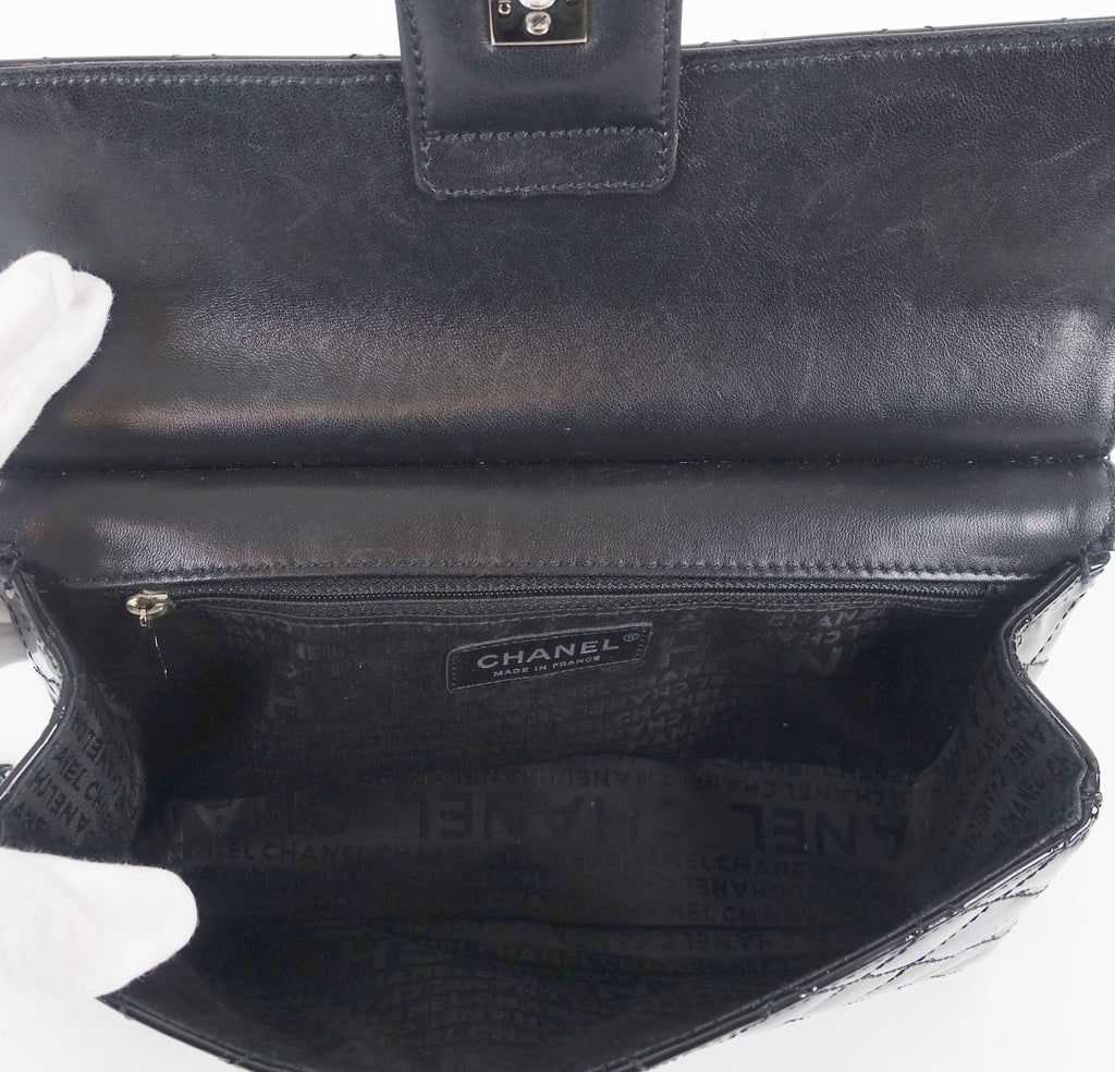 Patent Leather Classic Flap Shoulder Bag