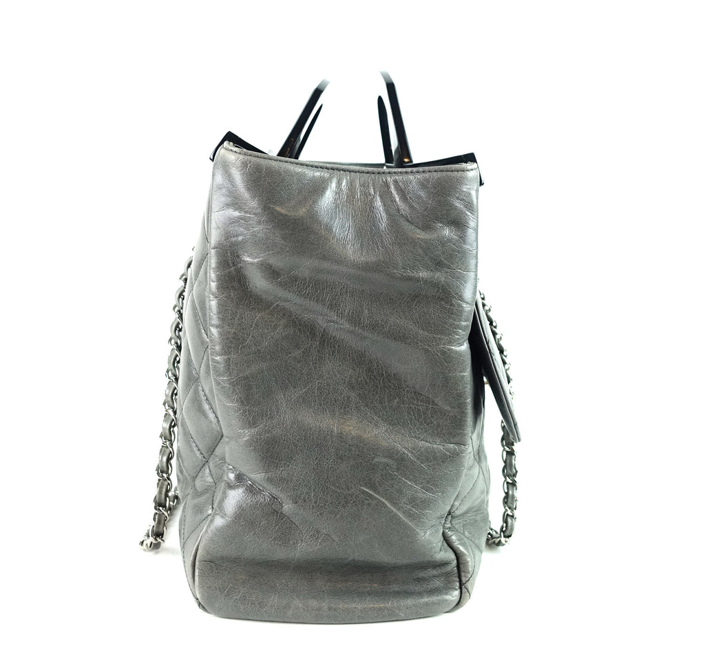 Delivery Large Glazed Calf Leather Bag