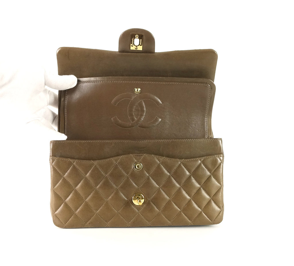 Double Flap Lambskin Shoulder Bag