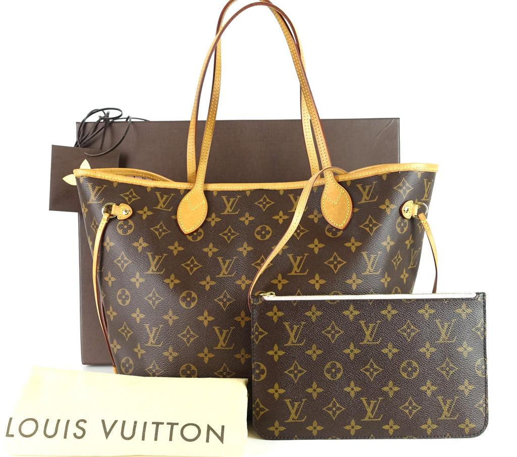 Neverfull MM Monogram Canvas Tote Bag with Pochette