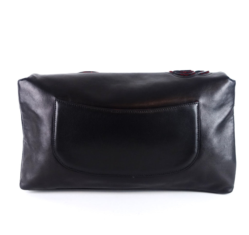 Camellia Petals Lambskin Shoulder Bag