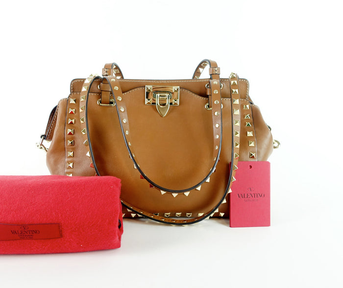 Rockstud Calf Leather Small Bag
