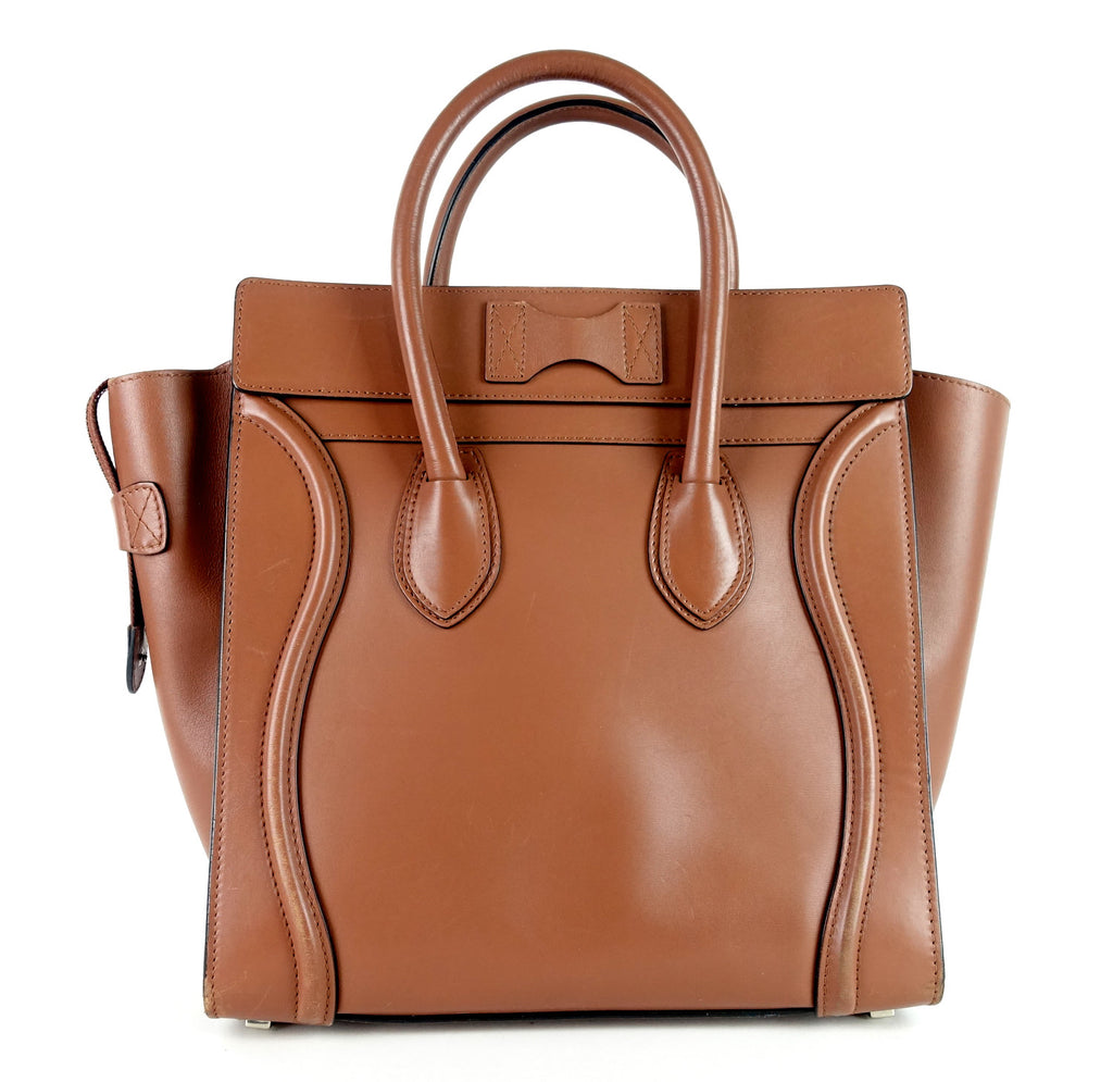 Mini Luggage Smooth Calfskin Leather Handbag