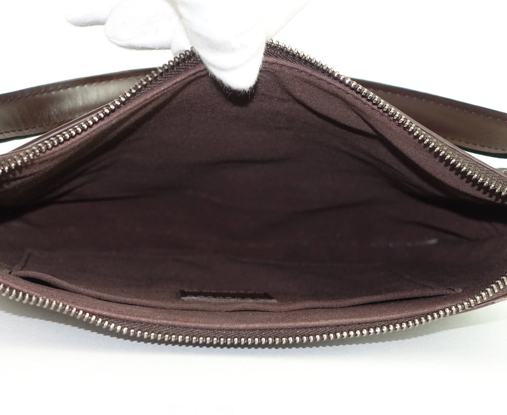 Matsy Brown Epi Leather Shoulder Bag