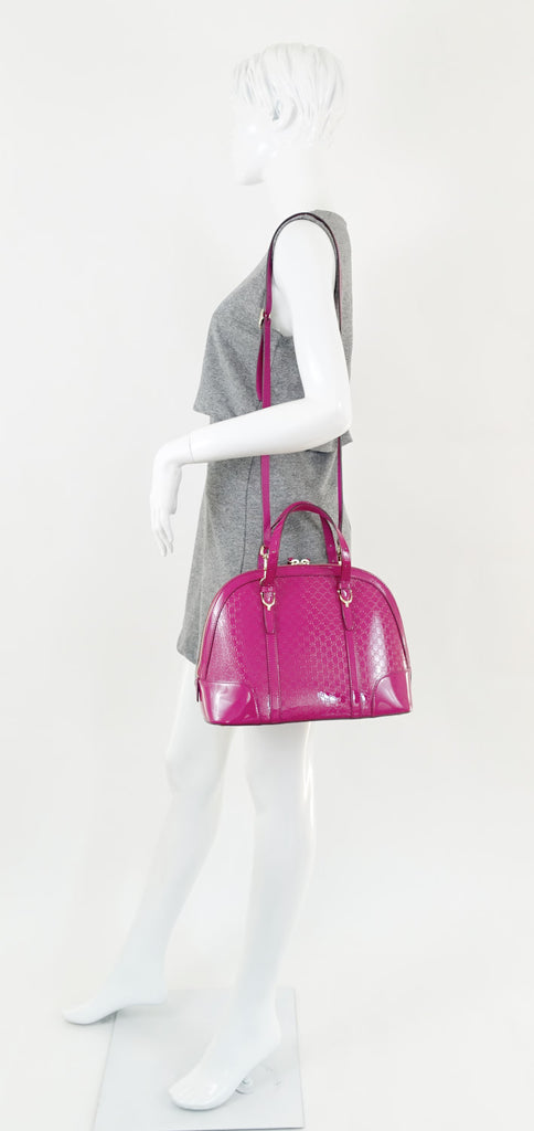 Nice Small MicroGuccissima Patent Leather Bag