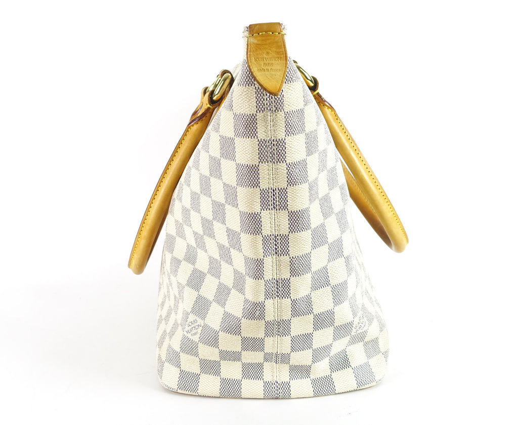 Saleya MM Damier Azur Canvas Tote Bag