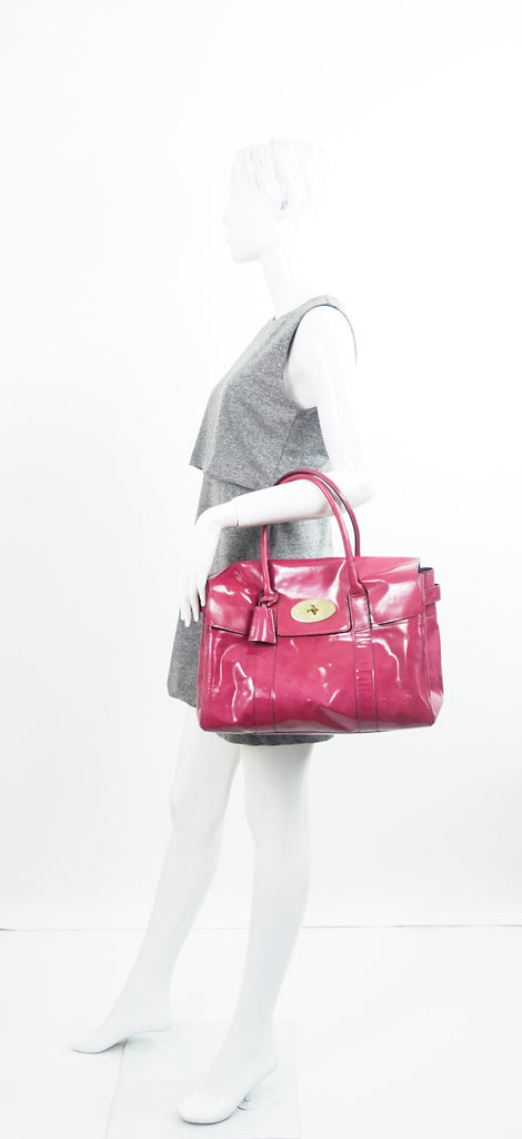 Mulberry Bayswater Patent Leather Handbag
