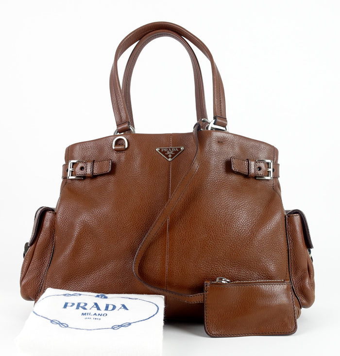 Vitello Daino Calfskin Leather Shoulder Bag