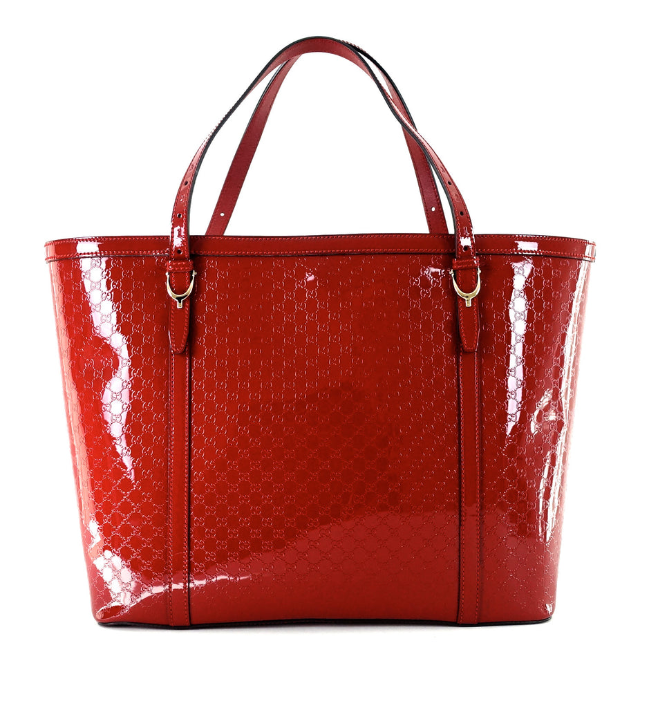 Nice Guccissima Patent Leather Tote Bag